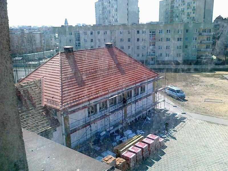 Teren budowy fotografowany od góry
